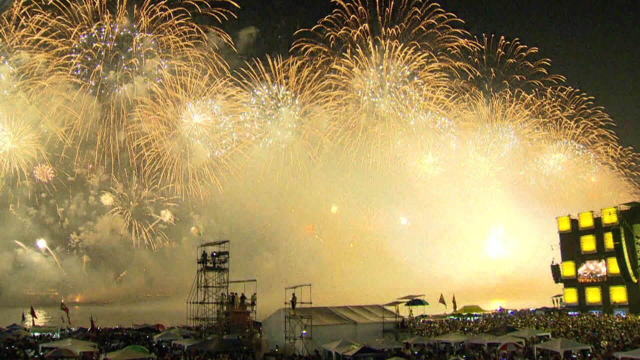 Em Copacabana, 2,9 milhões de pessoas receberam o ano de 2020