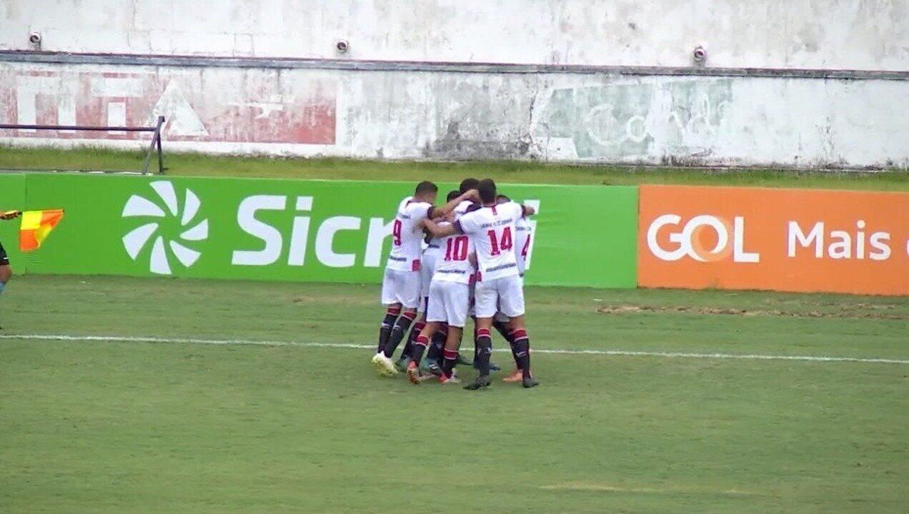 GOLAÇO! Pulga faz fila e marca o gol da vitória do River-PI sobre o Atlético-MG na Copinha