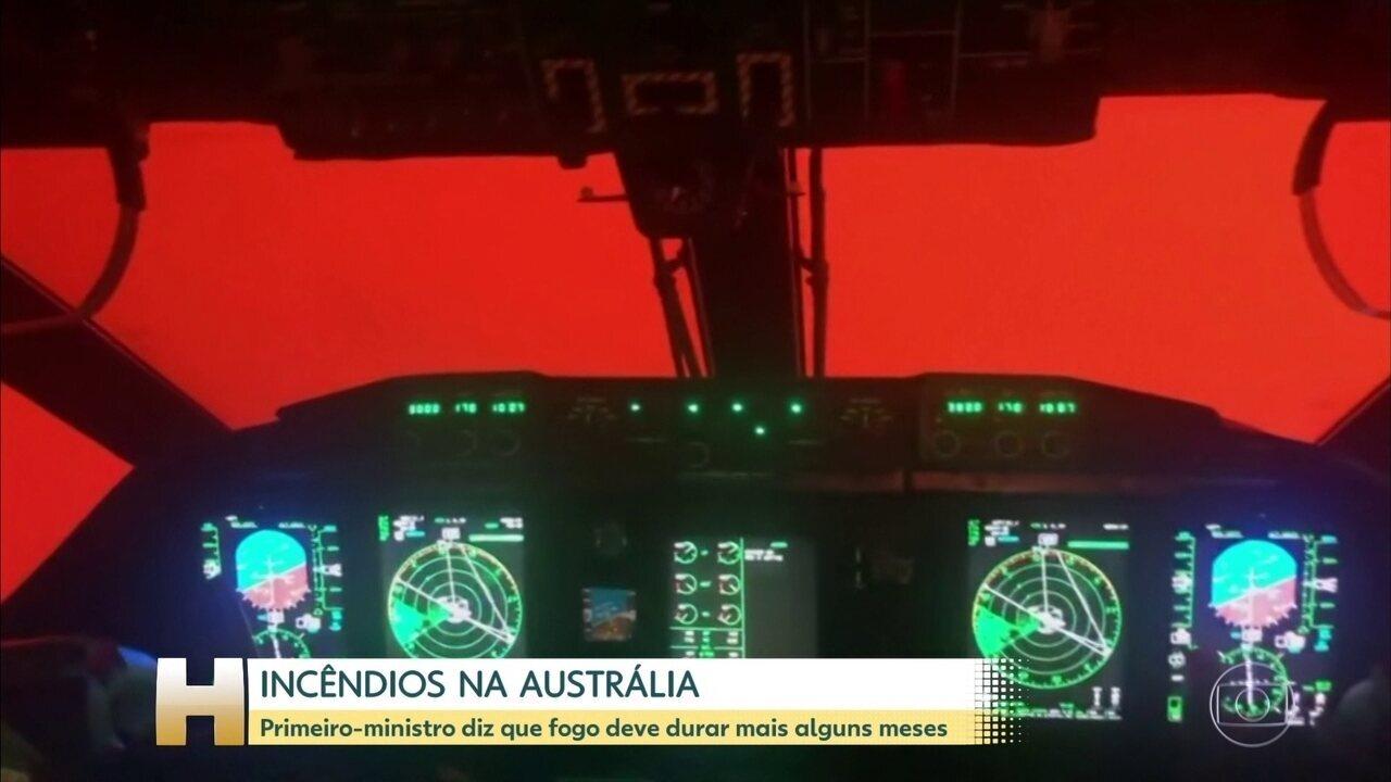 Primeiro-ministro da Austrália diz que incêndios devem continuar por mais alguns meses