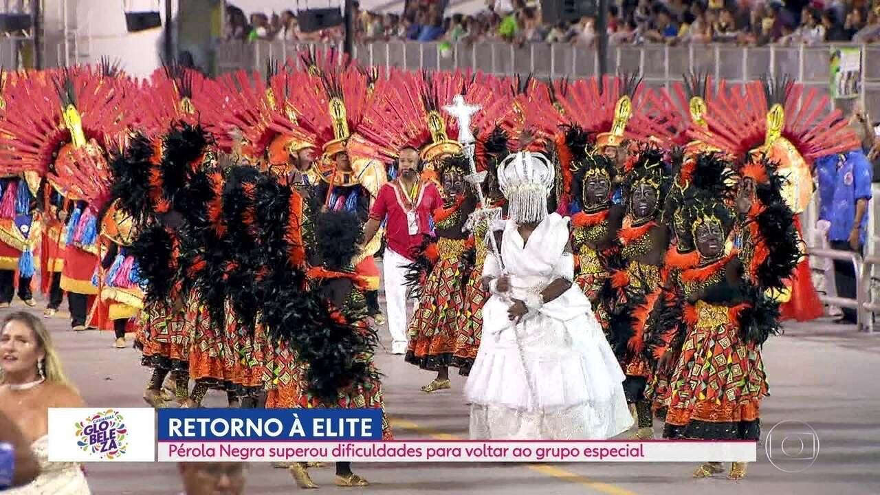 Pérola Negra retorna à elite do samba e desfila no Grupo Especial