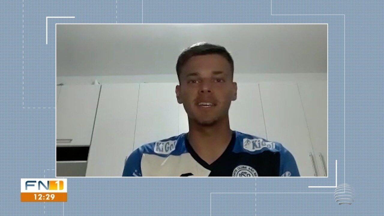 Goleiro Bruno Henrique, de Prudente e do São Bento, falou sobre a importância de jogar a Copinha