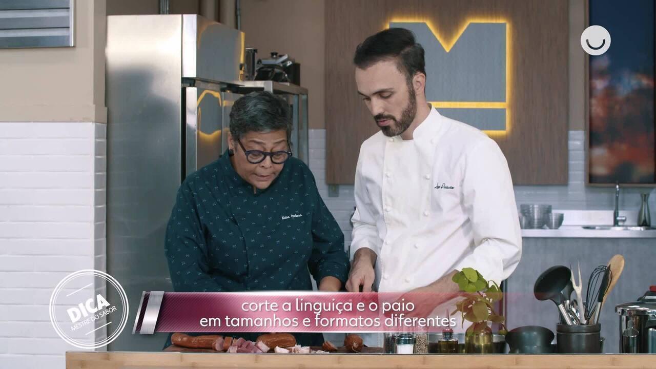 Kátia Barbosa e Leo Paixão ensinam a preparar feijoada