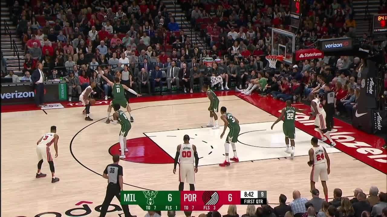 Melhores momentos: Portland Trail Blazers 101 x 122 Milwaukee Bucks, pela NBA
