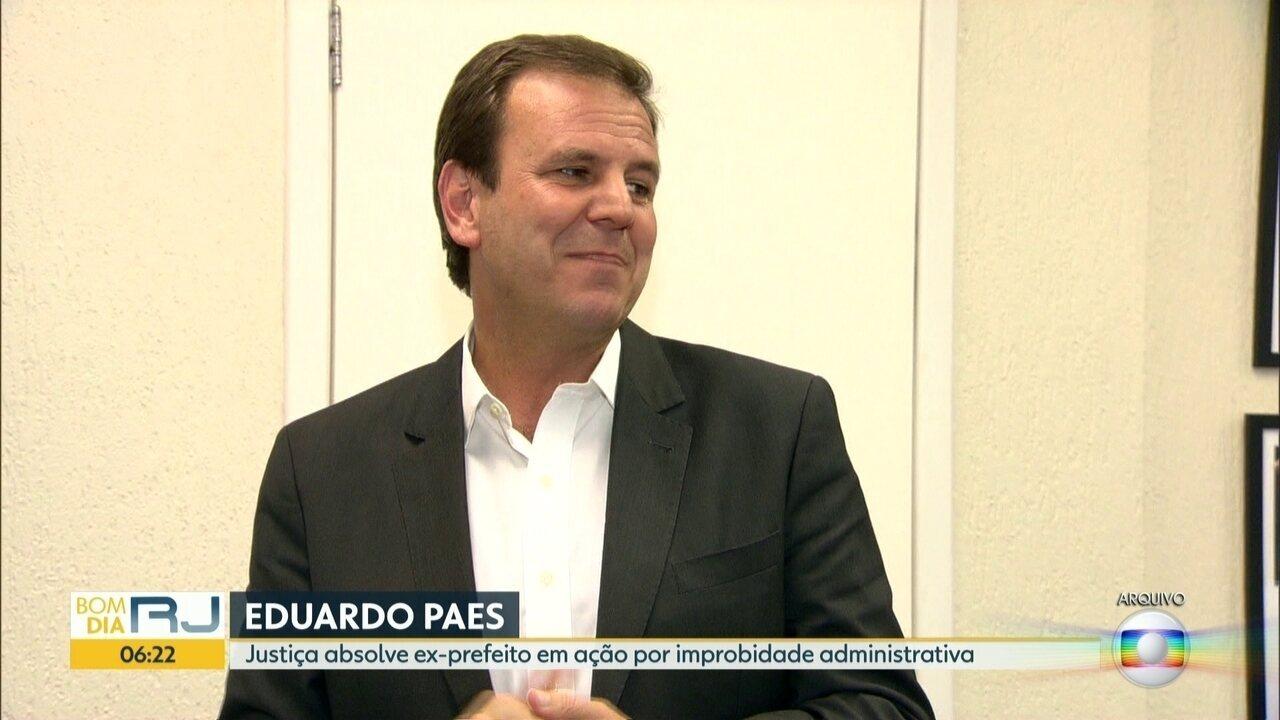 Justiça absolve ex-prefeito Eduardo Paes em ação por improbidade administrativa