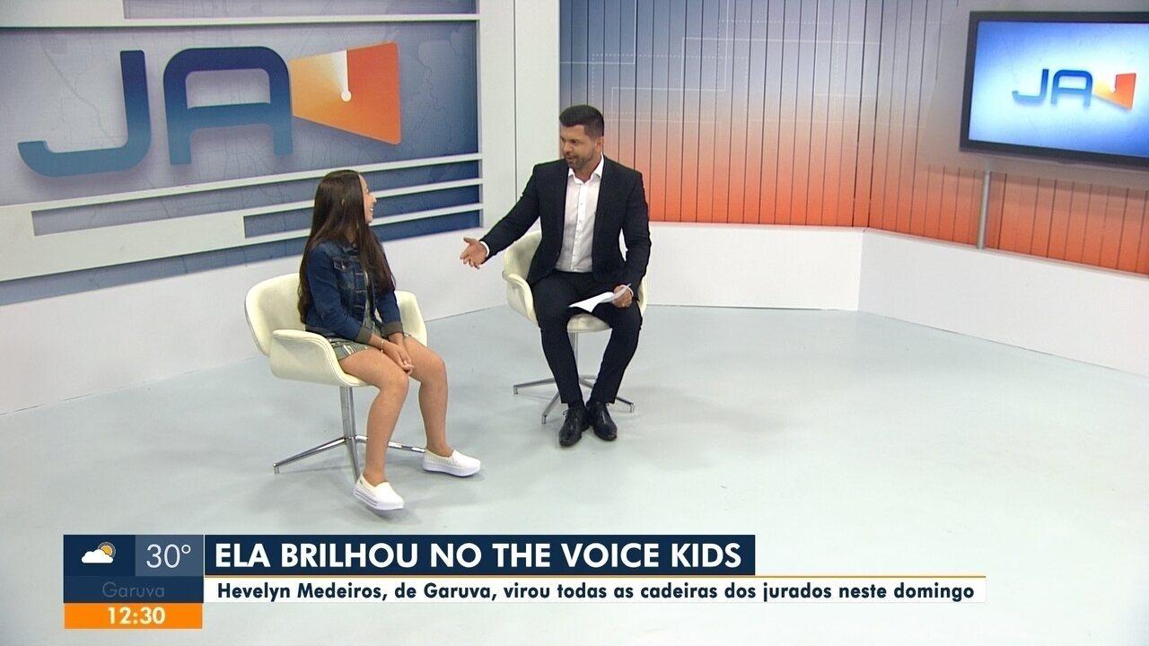 Adolescente de Garuva brilhou no The Voice Kids