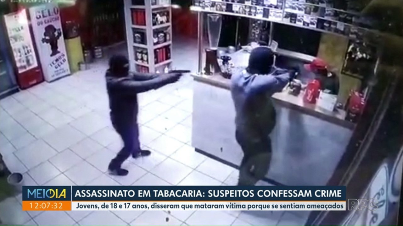 Assassinato na tabacaria: suspeitos confessam crime