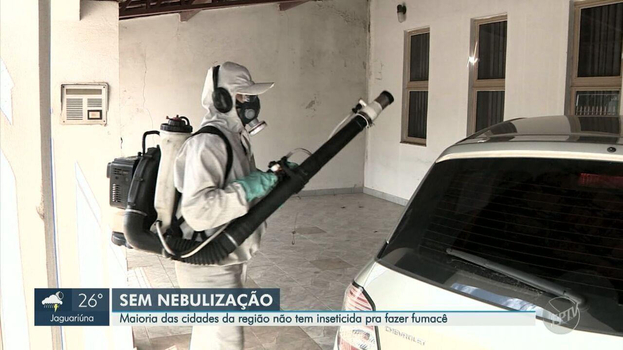 Inseticida usado em nebulização contra dengue está em falta em 31 cidades da região