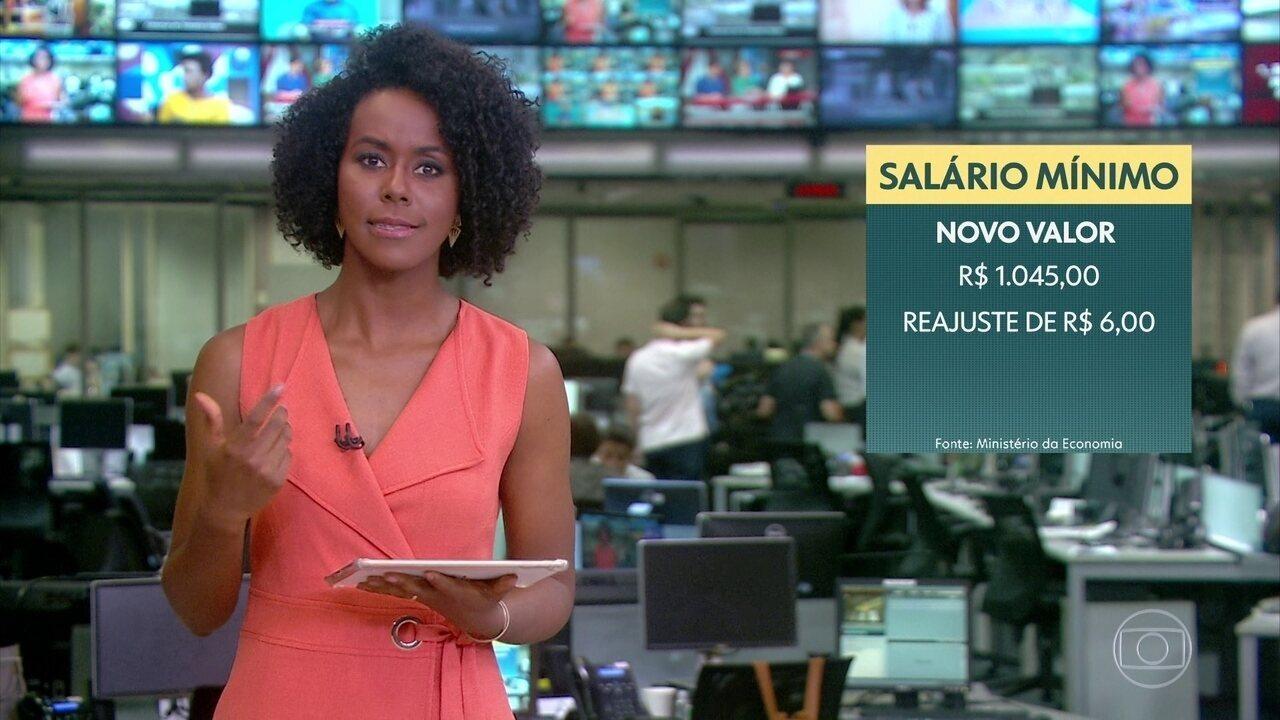 Novo salário mínimo foi fixado em R$ 1.045,00 pelo governo federal