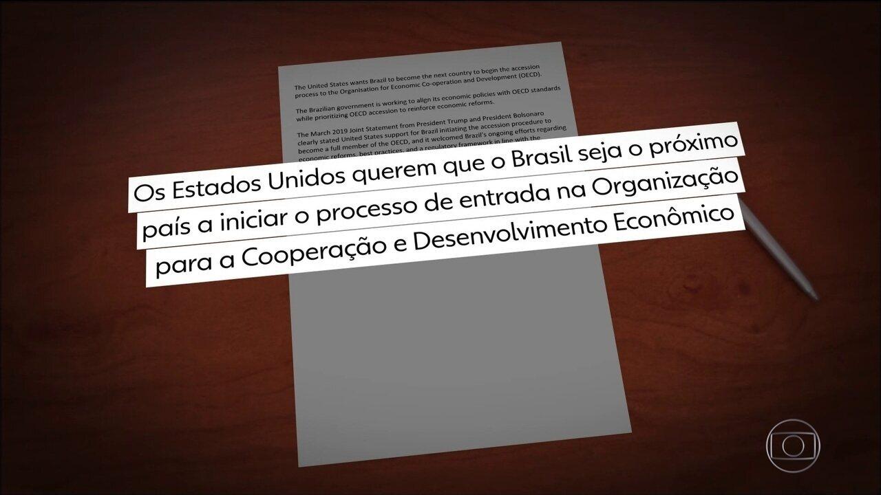 Governo americano formaliza apoio ao ingresso do Brasil na OCDE