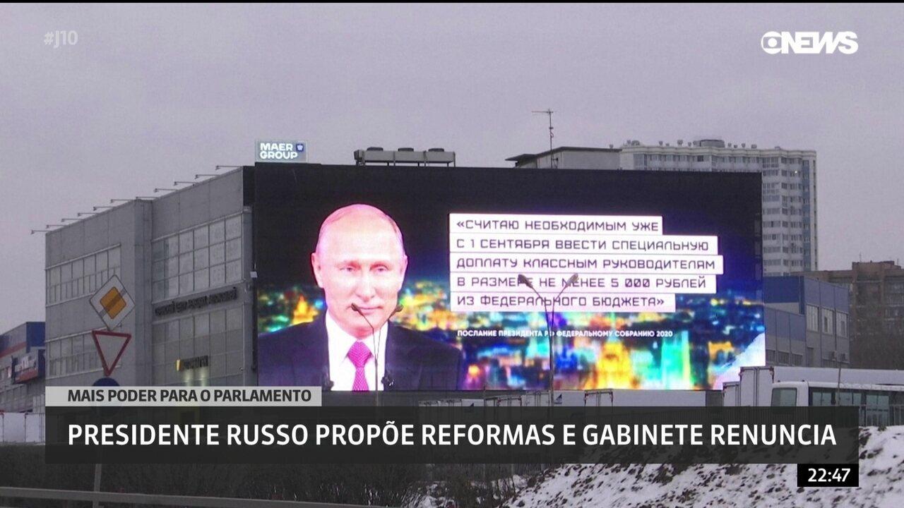 Putin propõe reformas na Constituição e cúpula do governo renuncia