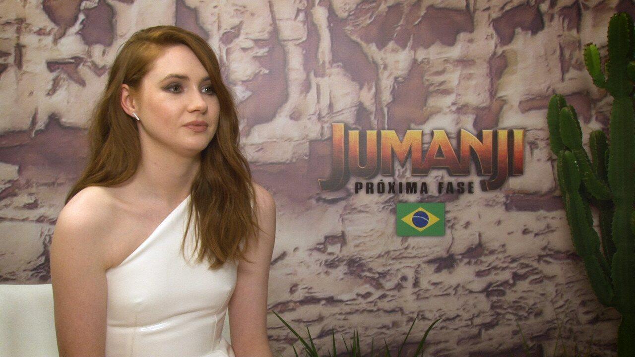 Karen Gillan fala sobre os desafios na gravação de 'Jumanji – próxima fase'