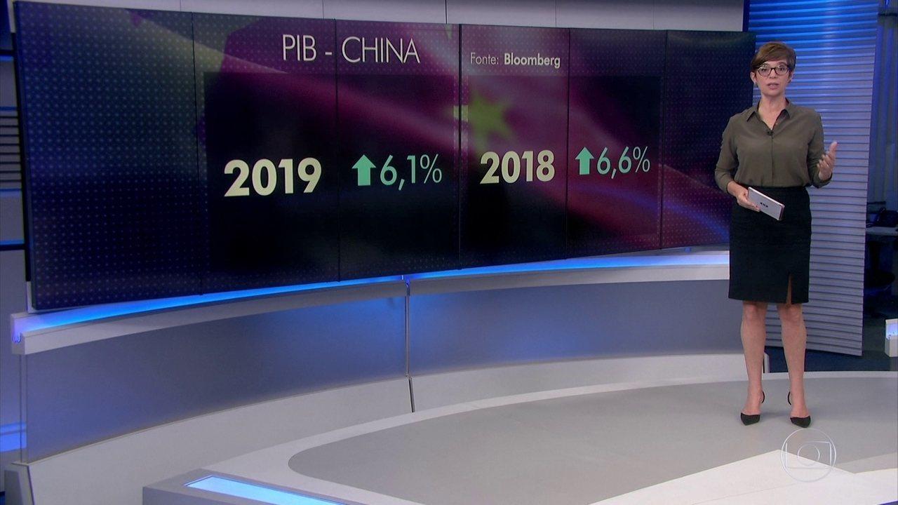 PIB da China cresce 6,1% em 2019, menor valor em quase três décadas