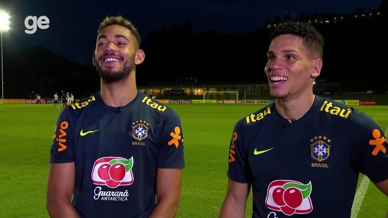 Titulares da seleção sub-23, Matheus Cunha e Paulinho comentam parceria dentro e fora de campo