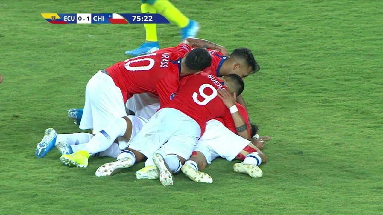 Os gols de Equador 0 x 3 Chile pelo Pré-olímpico de futebol sub-23