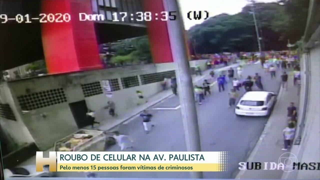 Três homens são presos por furtos em série na Avenida Paulista neste domingo (19)