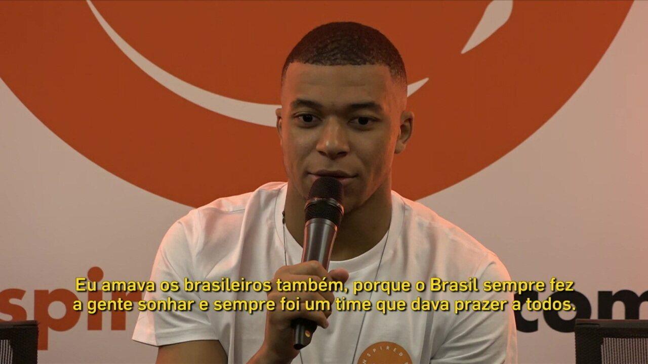 Mbappé revela admiração pelo Brasil e planos para 2020