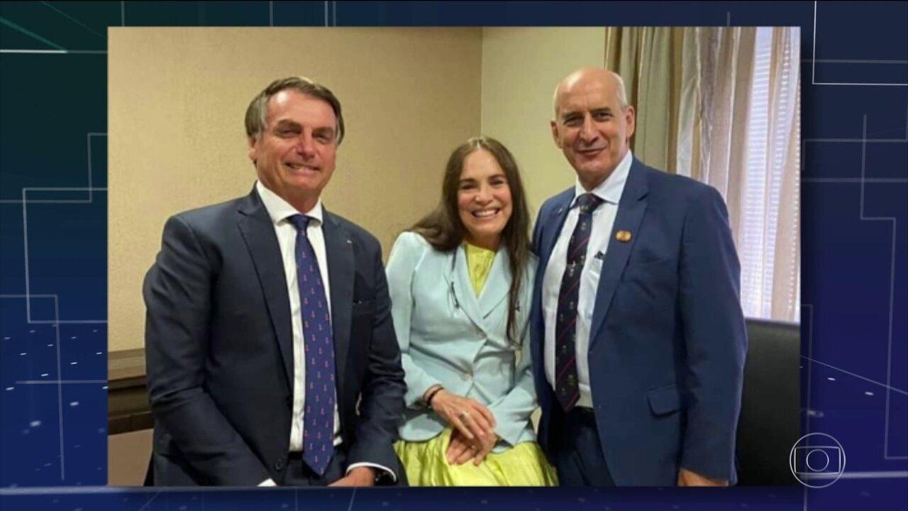 Convidada para assumir secretaria, Regina Duarte e Bolsonaro se encontram no Rio