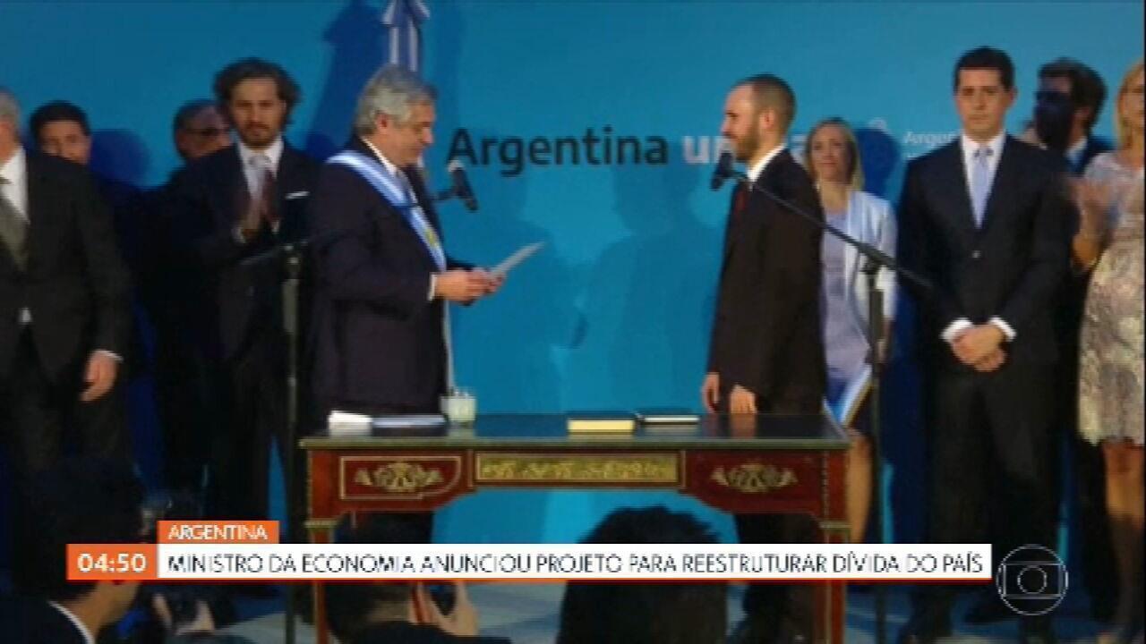 Governo da Argentina anuncia projeto de lei que reestrutura a dívida do país