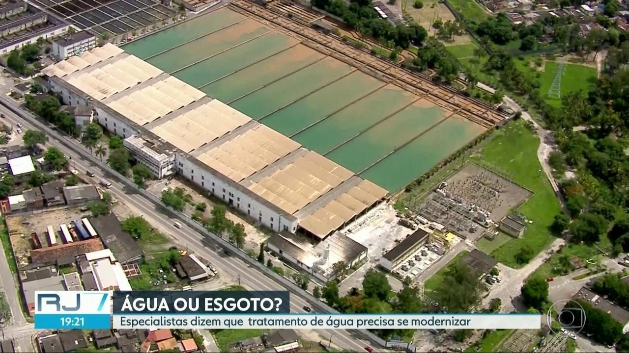 Poluição na água que chega para estação de tratamento do Guandu é pior que há 50 anos.