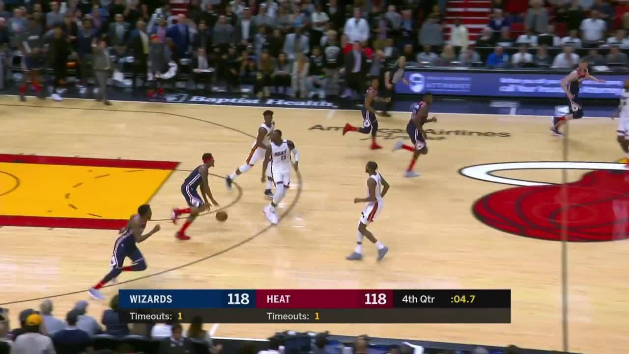 Melhores momentos: Miami Heat 134 x 129 Washington Wizards pela NBA