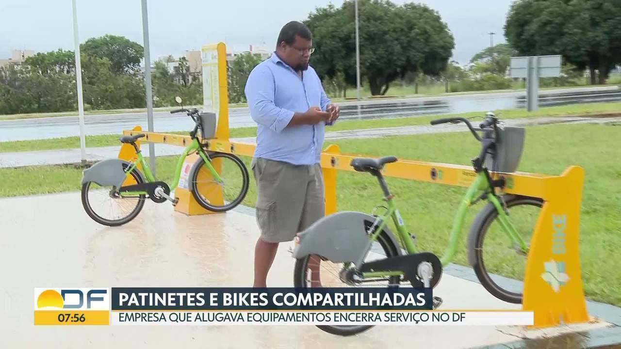 Patinetes e bicicletas compartilhadas são retiradas de circulação no DF