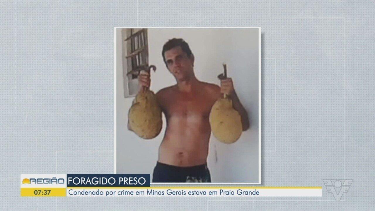 Homem condenado por latrocínio em Minas Gerais é capturado em Praia Grande