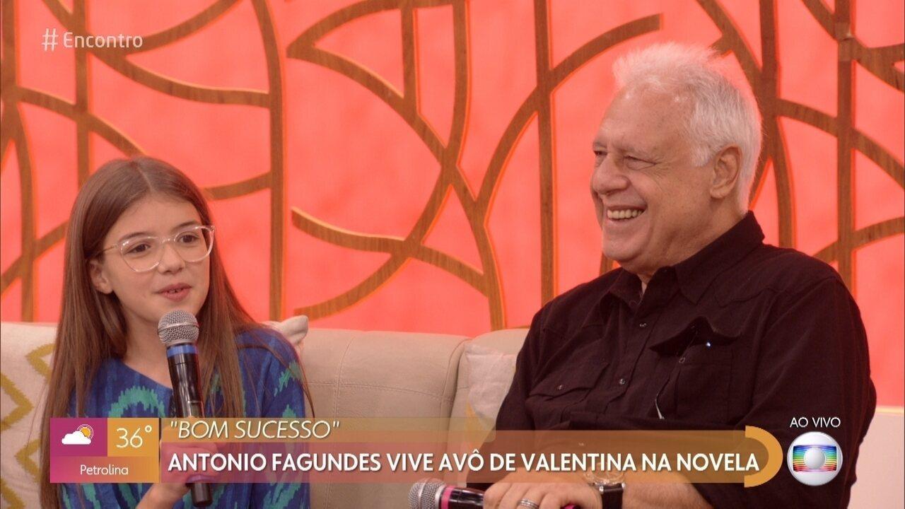 Valentina Vieira surpreende Antonio Fagundes no '#TBT do Encontro'