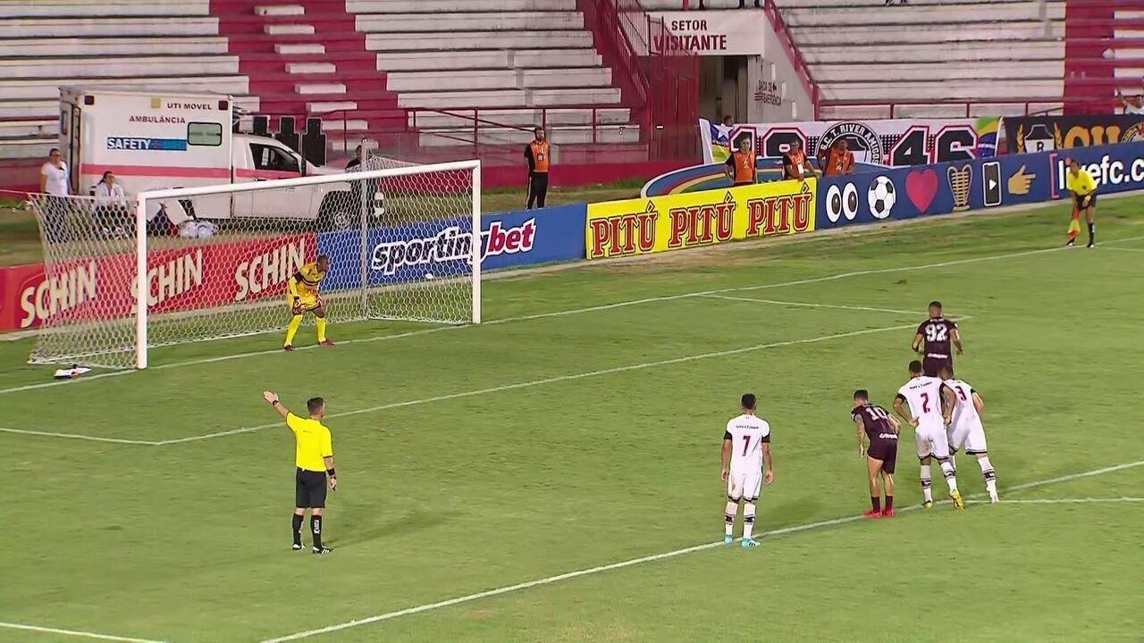 Melhores momentos de Náutico 1 x 1 River-PI, pela 1ª rodada da Copa do Nordeste