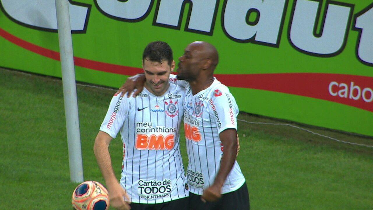 Os gols de Corinthians 4 x 1 Botafogo-SP pela 1ª rodada do Campeonato Paulista