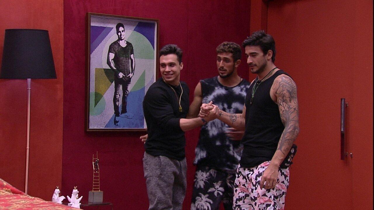 Petrix, Guilherme e Chumbo entram no Quarto do Líder