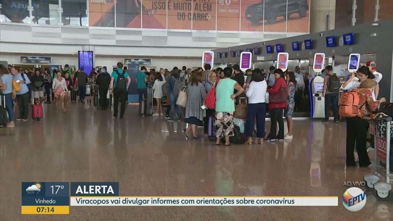 Aeroporto de Viracopos terá avisos sonoros sobre coronavírus