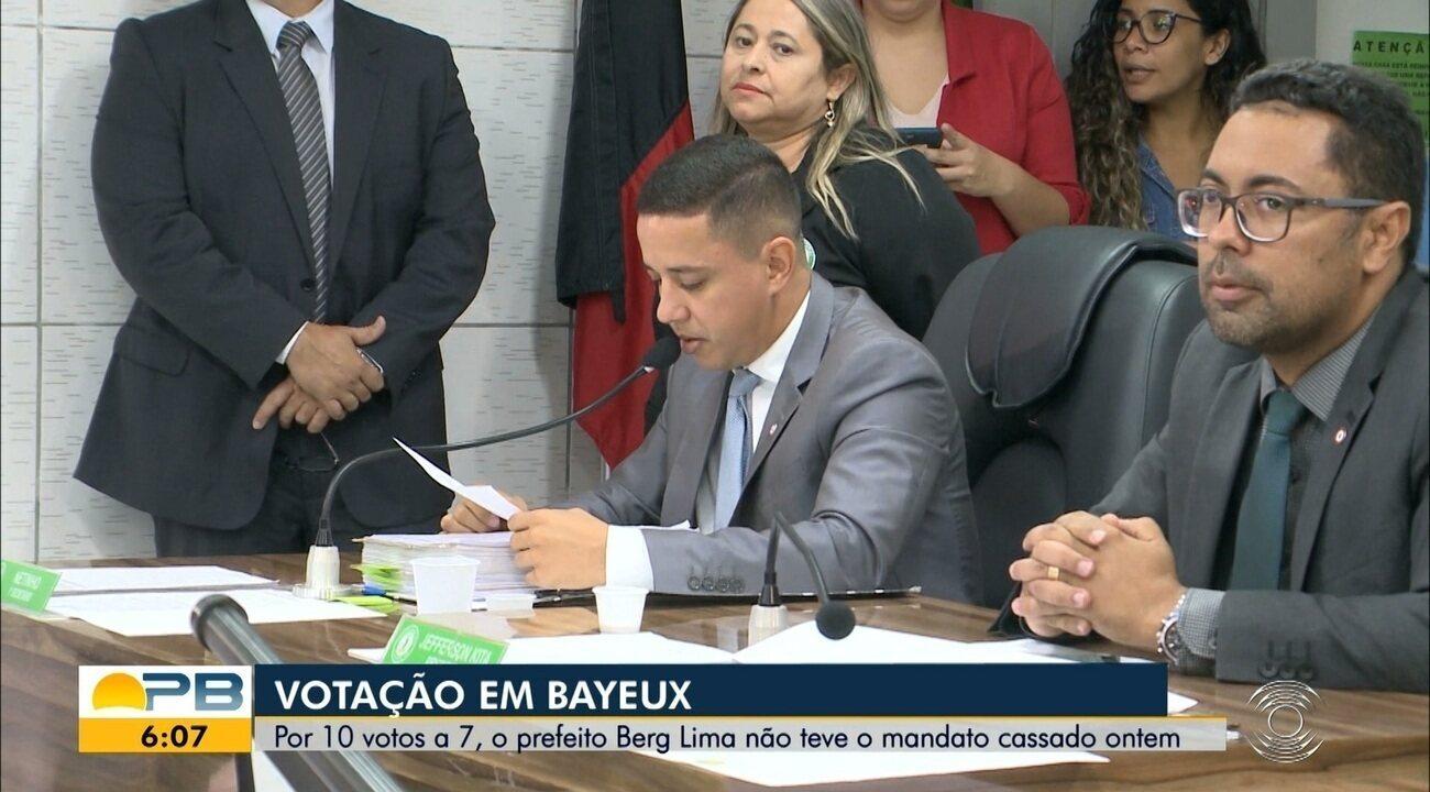 Câmara Municipal de Bayeux vota contra cassação do prefeito Berg Lima