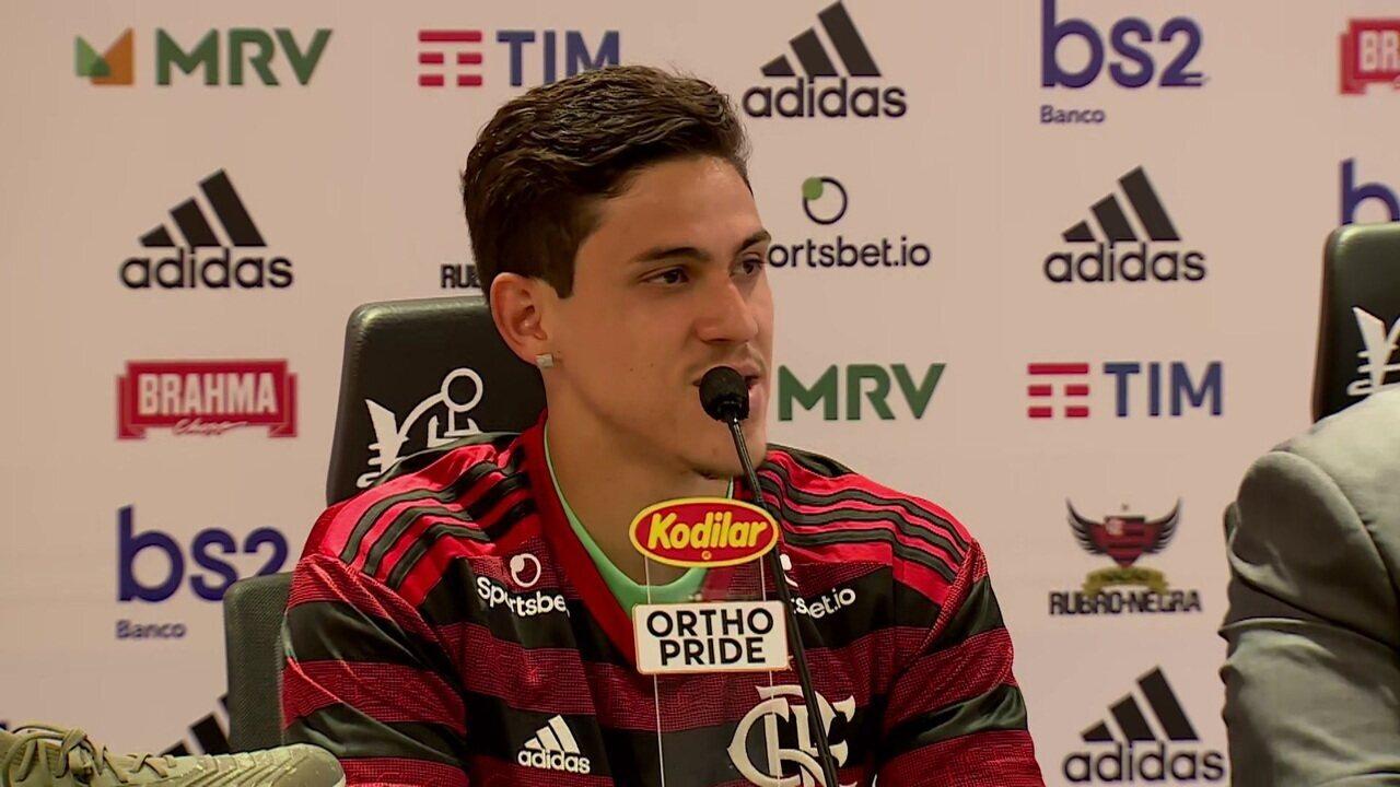 Apresentado no Flamengo, Pedro avisa que comemorará gols contra o Fluminense