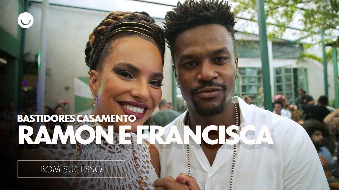 Veja os bastidores do casamento de Ramon e Francisca