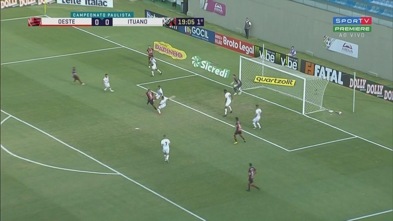 Gol de João Paulo, do Oeste, aos 19 minutos do 1º tempo
