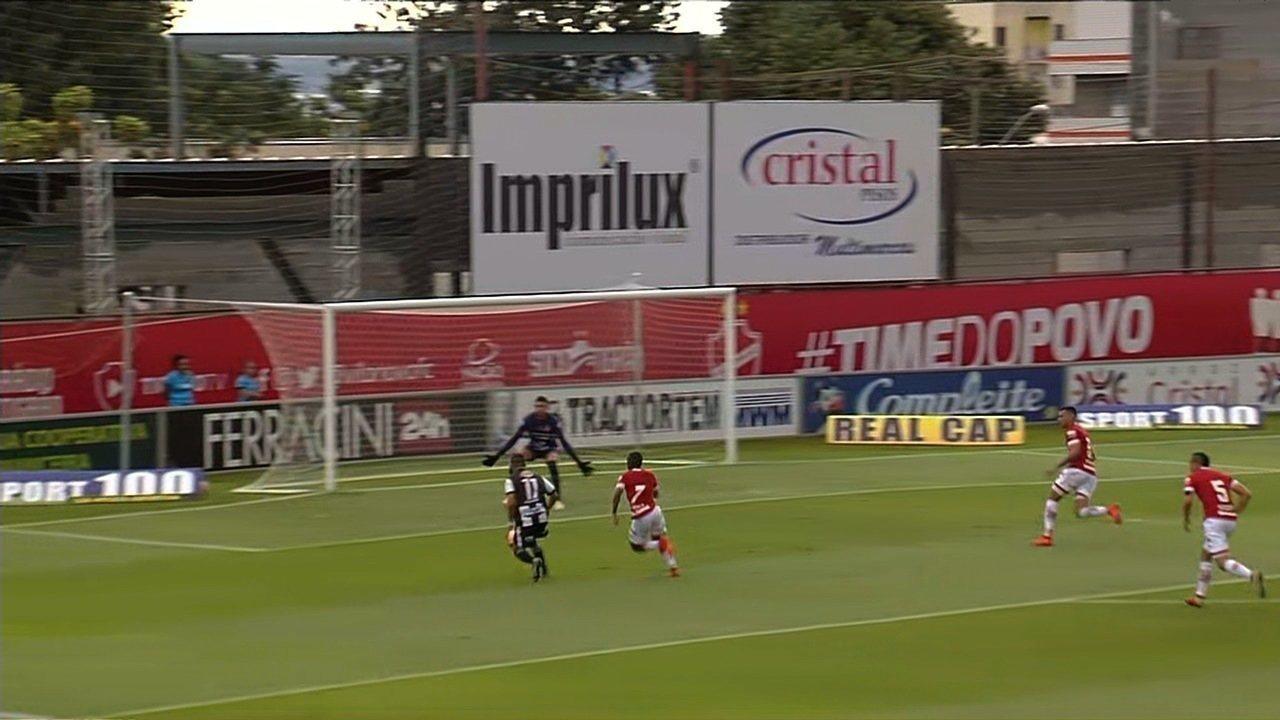 O gol de Vila Nova 0 x 1 Jaraguá pela 2ª rodada do Campeonato Goiano