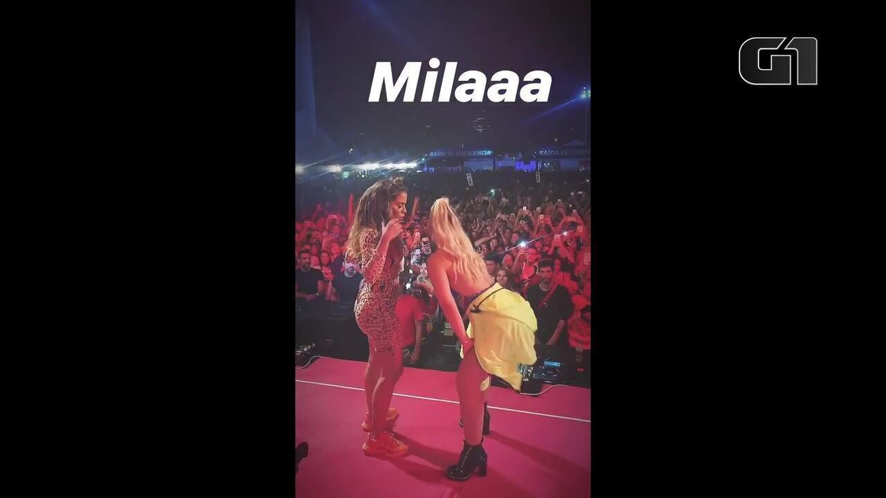 Anitta dança hit 'Tudo ok' em ensaio de carnaval em São Paulo