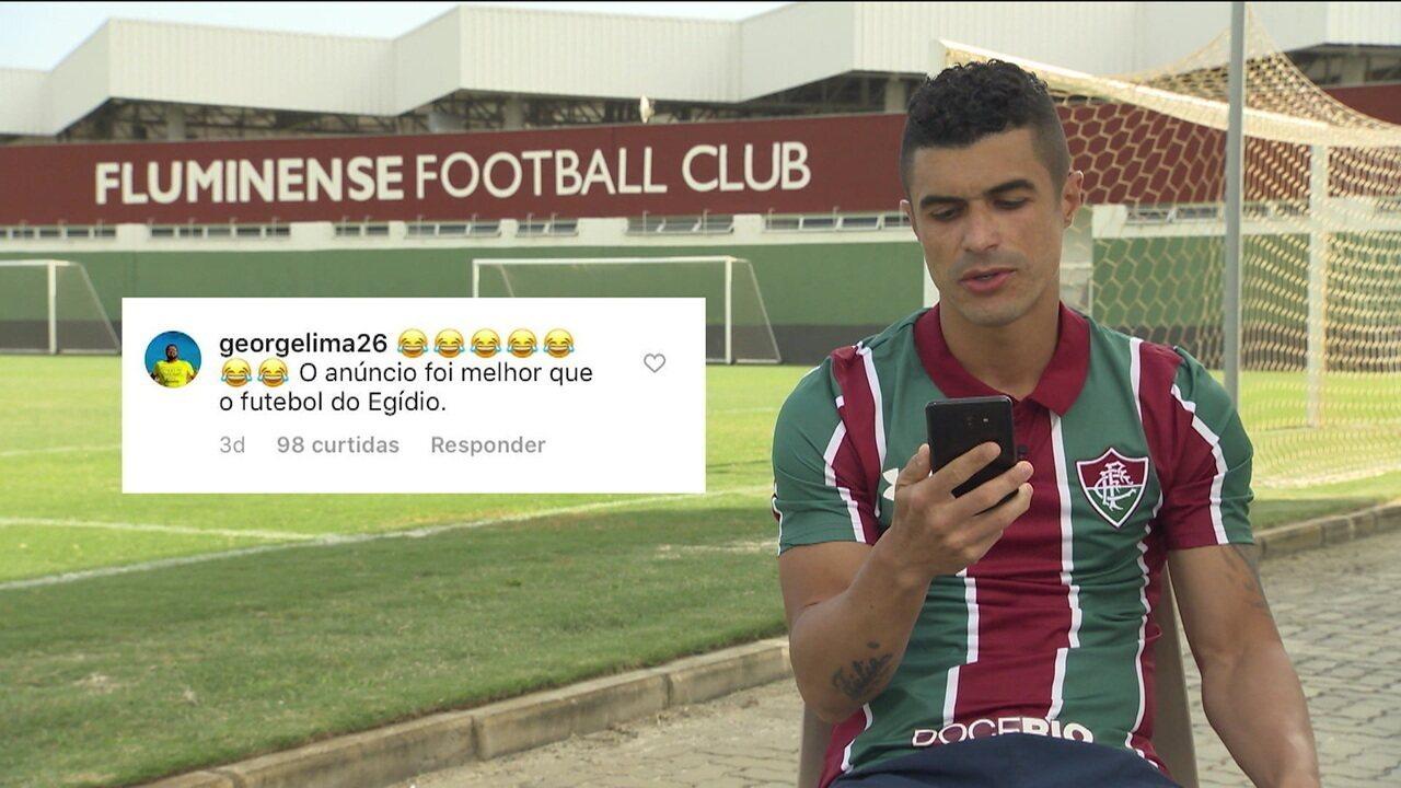 Leitura de comentários: Egídio já chega ao Fluminense movimentando a internet