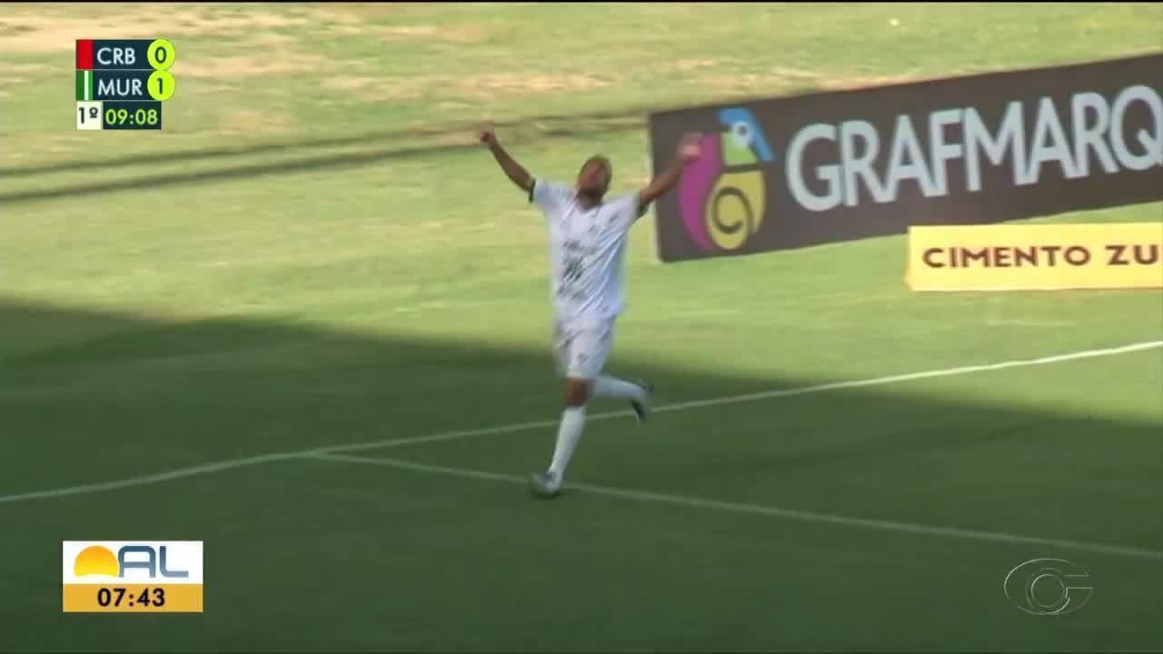 Etinho fez o gol da vitória do Murici sobre o CRB