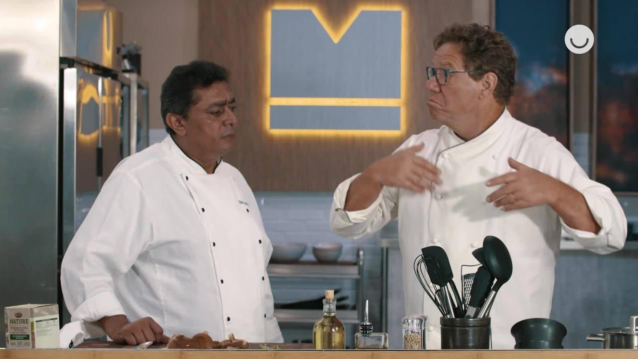 Claude Troisgros e Batista ensinam receita de filé de frango em crosta de grãos Seara