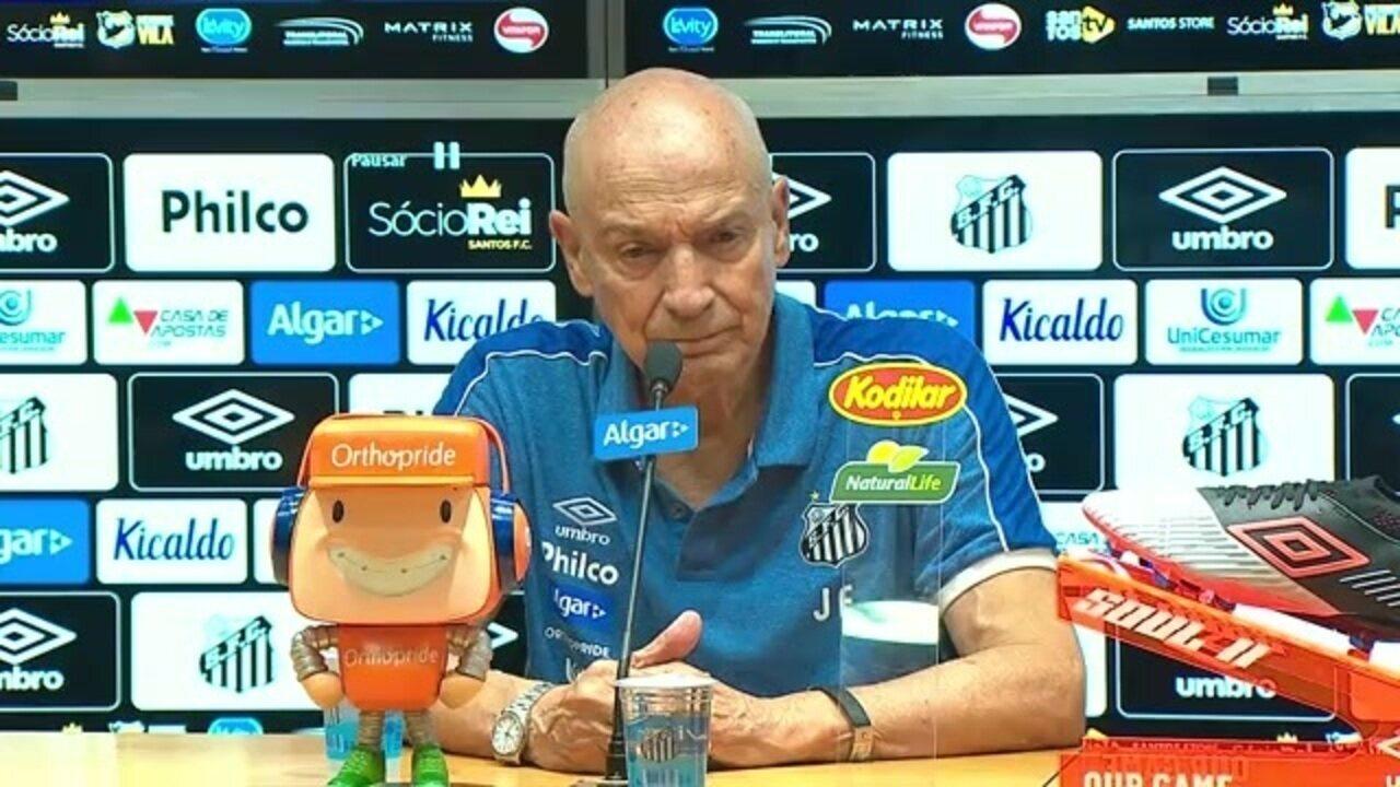 Veja como foi a entrevista do técnico Jesualdo Ferreira, do Santos, após vitória sobre a Inter de Limeira