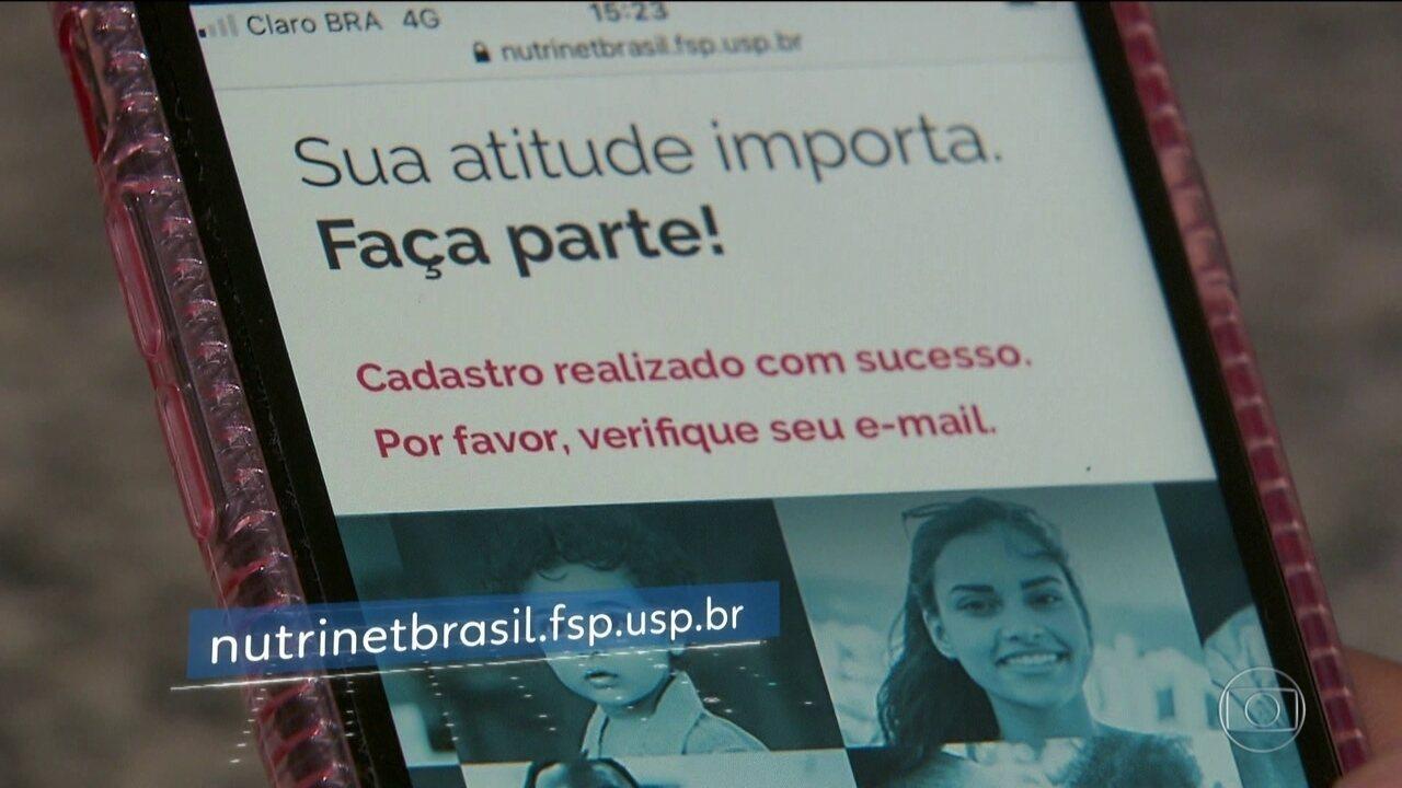 Pesquisadores vão monitorar a alimentação de 200 mil brasileiros