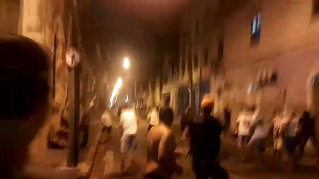 Vídeo mostra confusão durante aniversário do Santa Cruz no Recife