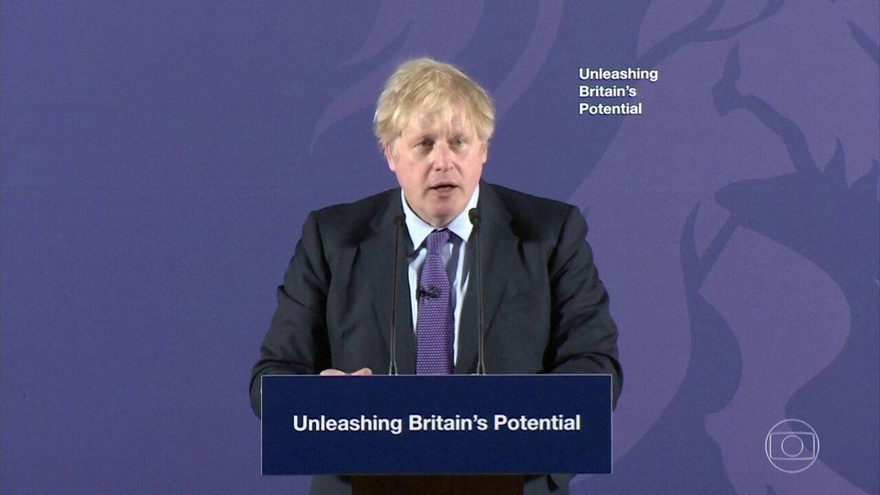 Boris Johnson detalha proposta de acordo comercial que vai apresentar à União Europeia