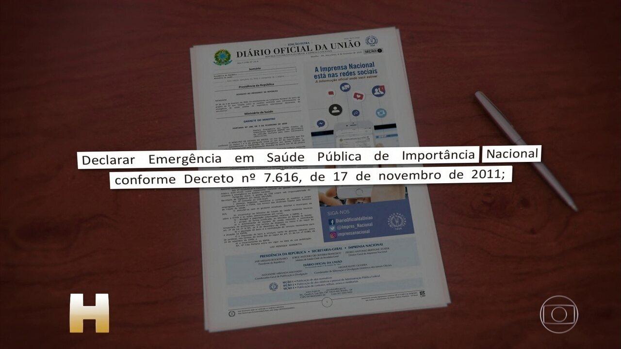 PL sobre quarentena para brasileiros vindos da China prevê exames médicos obrigatórios