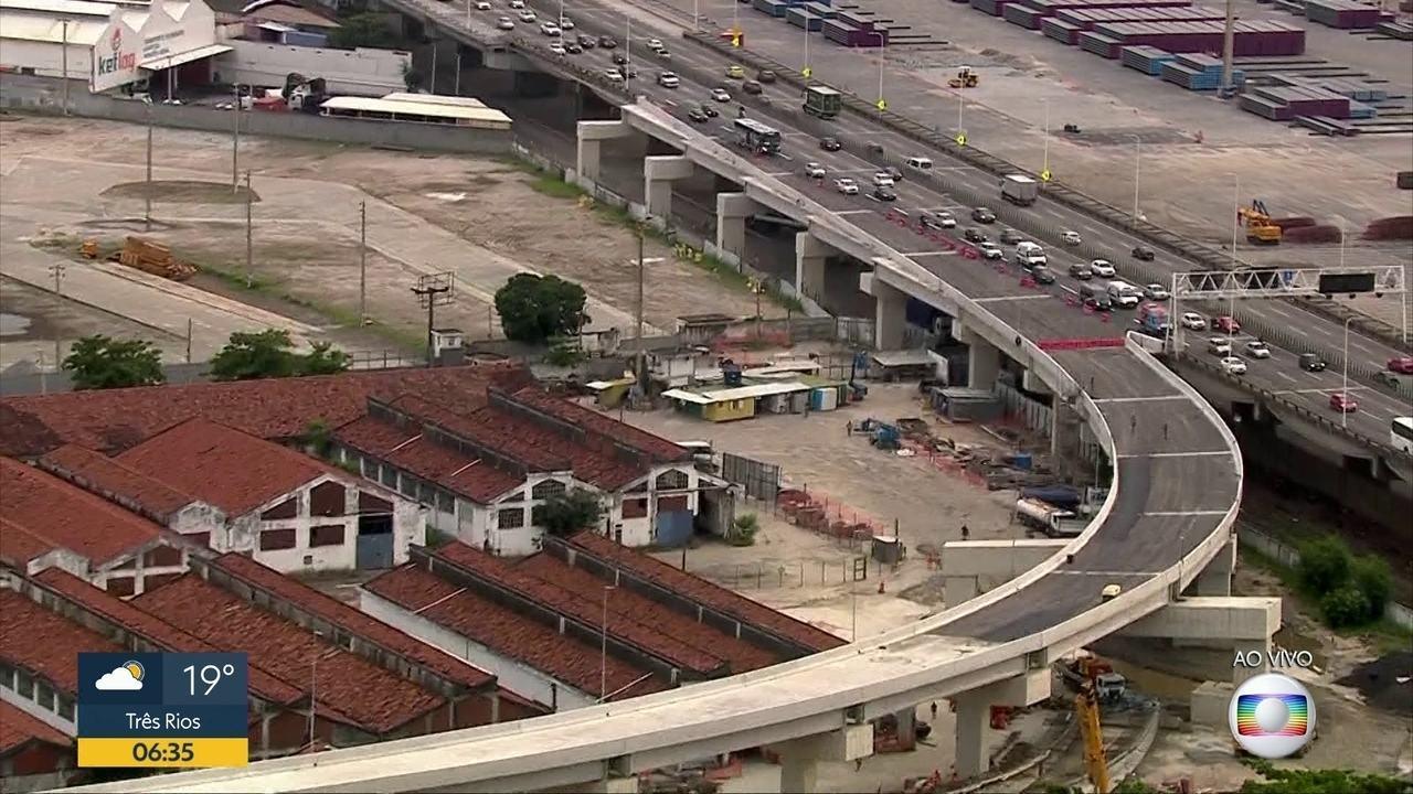 Viaduto que liga a Ponte Rio-Niterói à Linha Vermelha inaugura neste sábado (15)