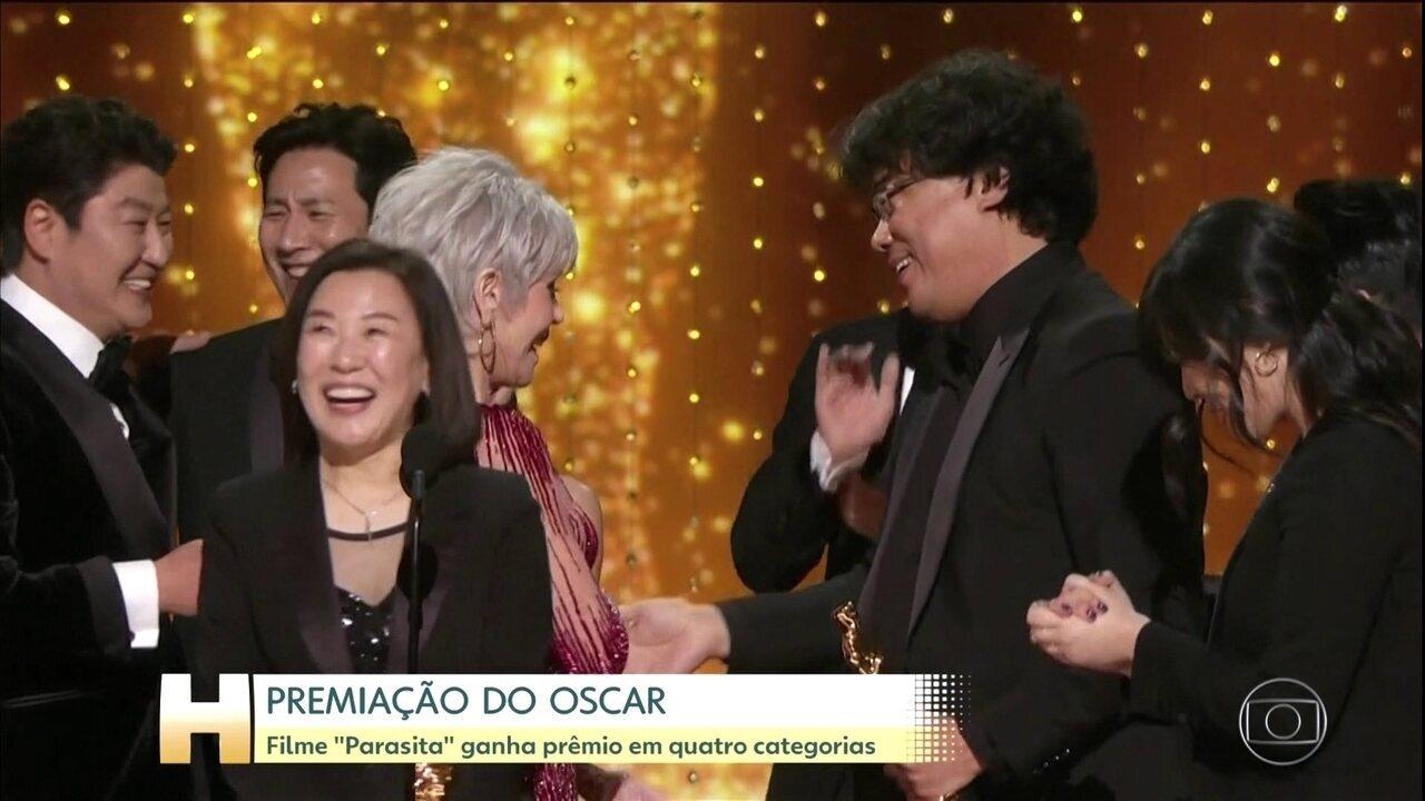 'Parasita' é o grande vencedor do Oscar 2020, com quatro prêmios