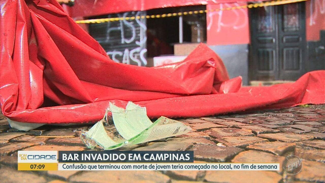 Bar onde aconteceu briga que terminou com morte de jovem é vandalizado em Campinas
