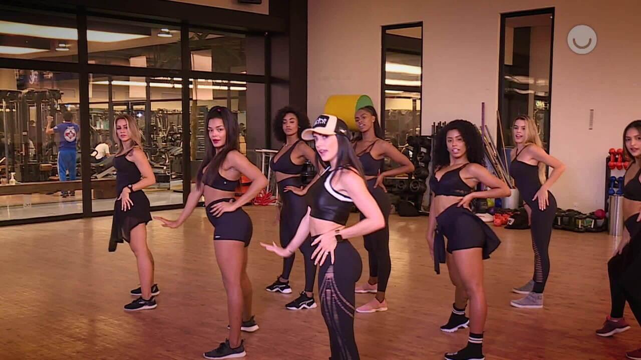 Bailarinas do Faustão ensinam coreografia de 'Tudo Ok'
