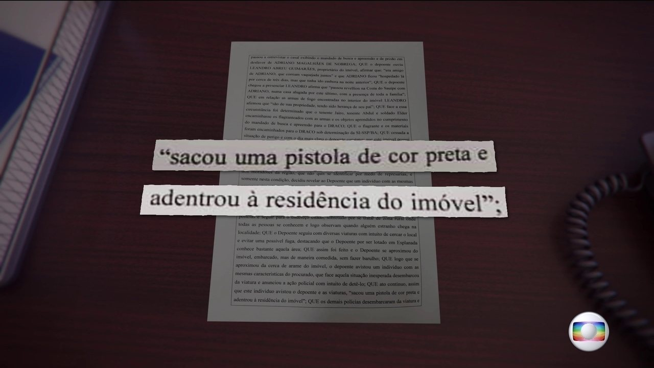 Policiais afirmam que miliciano resistiu à prisão numa fazenda da Bahia